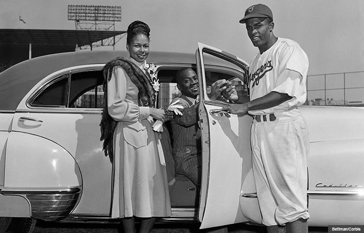 Jackie Robinson and wife with Bill Robinson