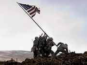 Raising the American Flag on Iwo Jima, Flags of Our Fathers, War Movie Slideshow