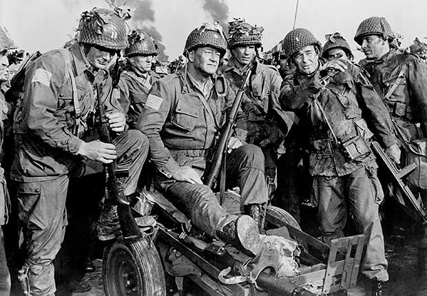 John Wayne in The Longest Day, War Movie Slideshow