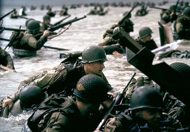 Tom Hanks in Saving Private Ryan, War Movie Slideshow
