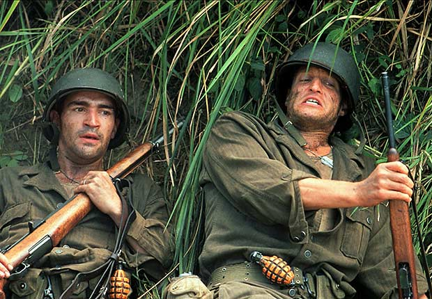 Ben Chaplin and Woody Harrelson in The Thin Red Line, War Movie Slideshow