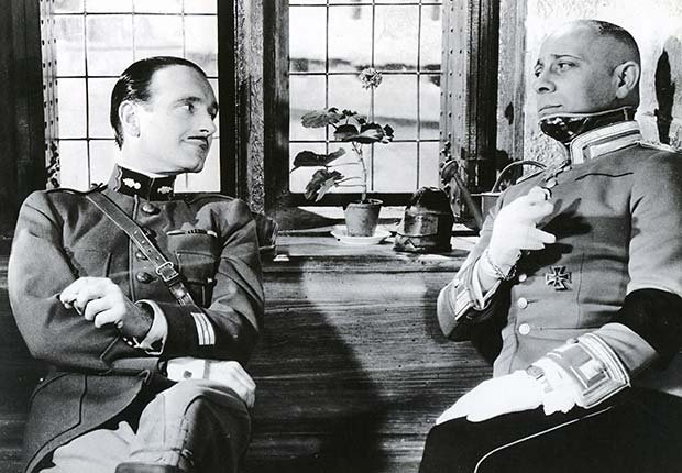 Pierre Fresnay (L) and Erich von Stroheim in La Grande Illusion, War Movie Slideshow