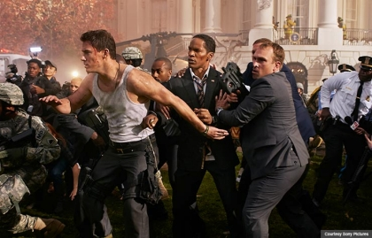 Jamie Foxx and Channing Tatum star in White House Down (Courtesy Sony Pictures)