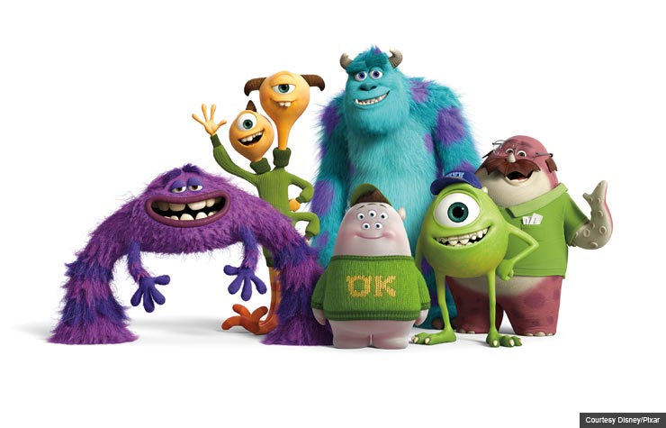 John Goodman and Billy Crystal are voice actors in Monsters University (Courtesy Disney/Pixar)
