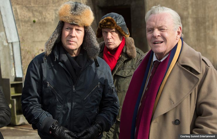 Bruce Willis, John Malkovich and Anthony Hopkins star in Red 2. (Courtesy Summit Entertainment)