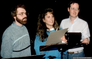 Jodi Benson, center, during recording for The Little Mermaid. (Buena Vista Pictures/Everett Collection)