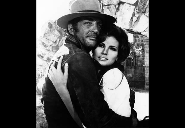 Raquel Welch and Dean Martin in BANDOLERO! (20th Centurty Fox/Courtesy Everett Collection)