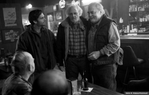 Bruce Dern and Will Forte in Nebraska. (Merie W. Wallace/Paramount)