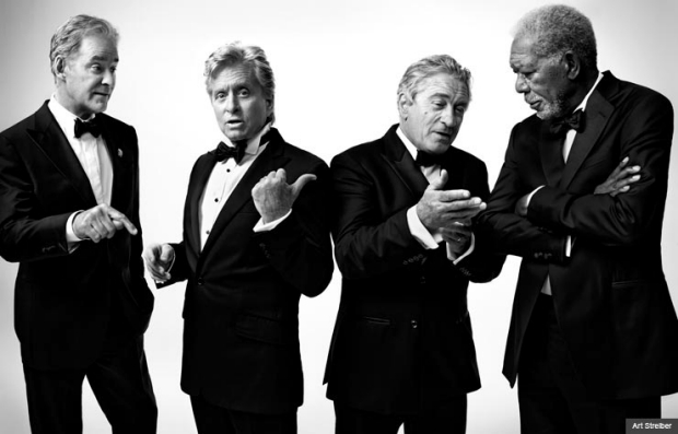 Mega-Movie Stars Michael Douglas, Morgan Freeman, Robert De