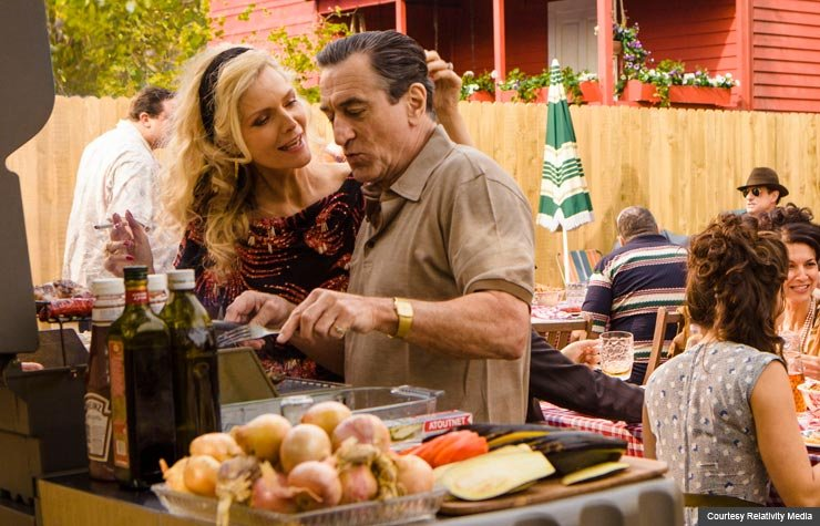 Michelle Pfeiffer and Robert DeNiro in The Family. (Courtesy Relativity Media)