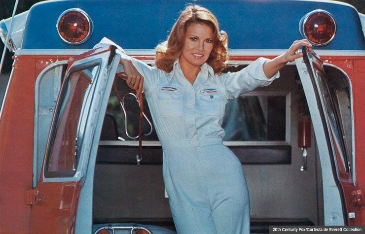 Raquel Welch in MOTHER, JUGS & SPEED (20th Centurty Fox/Cortesía de Everett Collection)