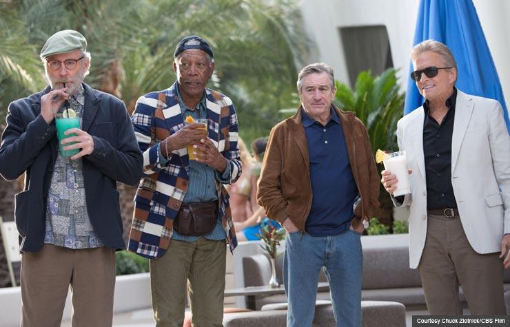 Kevin Kline, Morgan Freeman, Robert DeNiro and Michael Douglas star in Last Vegas. (Courtesy Chuck Zlotnick/CBS Film)