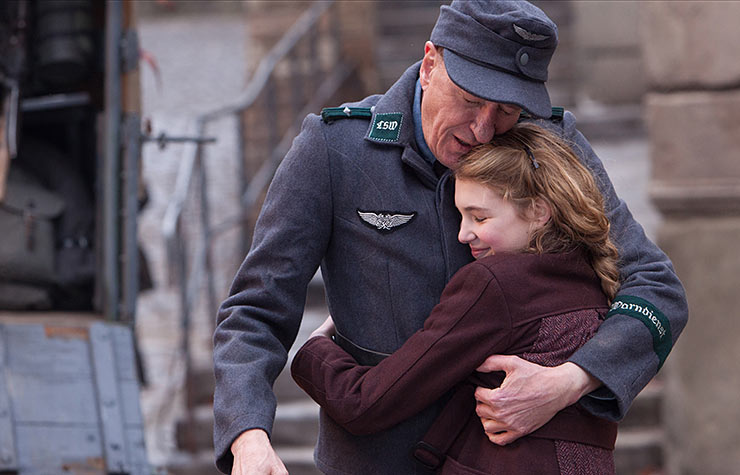 Geoffrey Rush and Sophie Nélisse in The Book Thief.