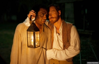 Chiwetel Ejiofor and Michael Fassbender in 12 Years a Slave (Pictorial Press/Alamy)