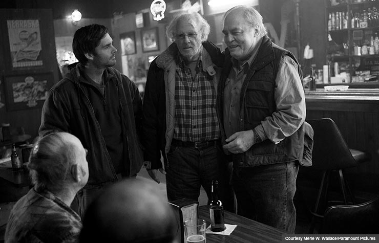 Bruce Dern and Will Forte star in Nebraska. (Courtesy Merie W. Wallace/Paramount Pictures)