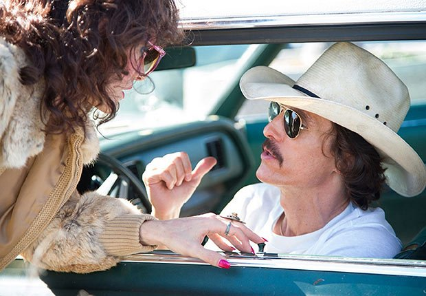 Jared Leto and Matthew McConaughey in Dallas Buyers Club. Top 10 Movies of 2013.