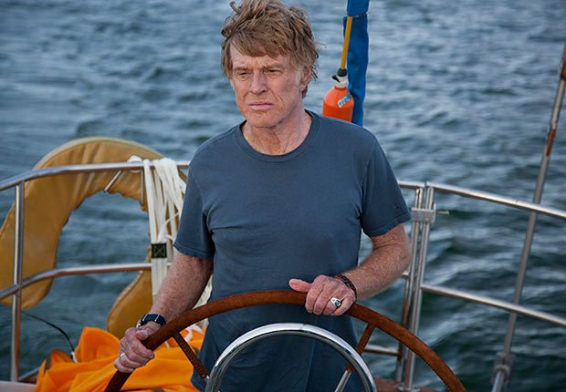 Robert Redford in All is Lost. Top 10 Movies of 2013.