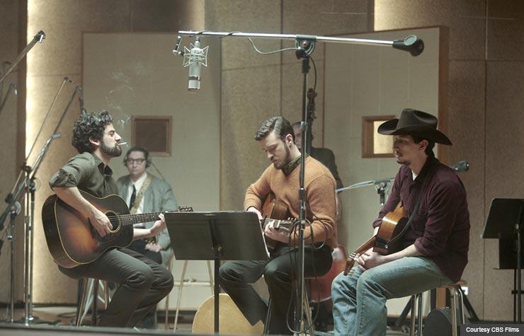 Oscar Isaac, Garrett Hedlund and Adam Driver in Inside Llewyn Davis. (Courtesy CBS Films)