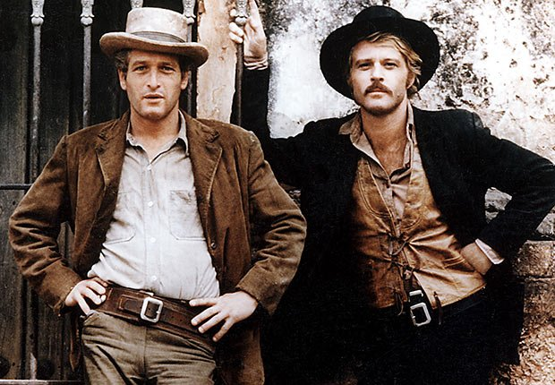 BUTCH CASSIDY AND THE SUNDANCE KID 1969 film with Robert Redford and Paul Newman, Reader poll Boomer Movies