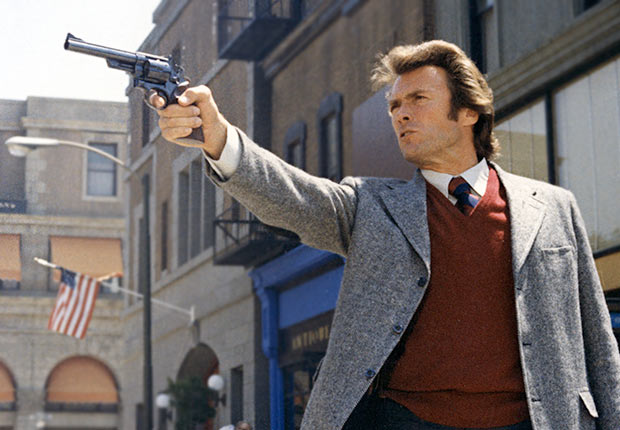 1971 Warner film Dirty Harry with Clint Eastwood, Reader poll Boomer Movies