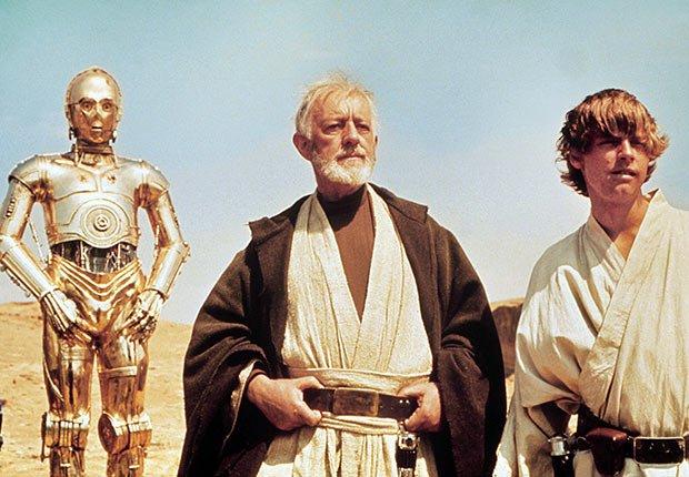 Alec Guinness y Mark Hamill en Star Wars: Episodio IV - Películas esenciales para los boomers