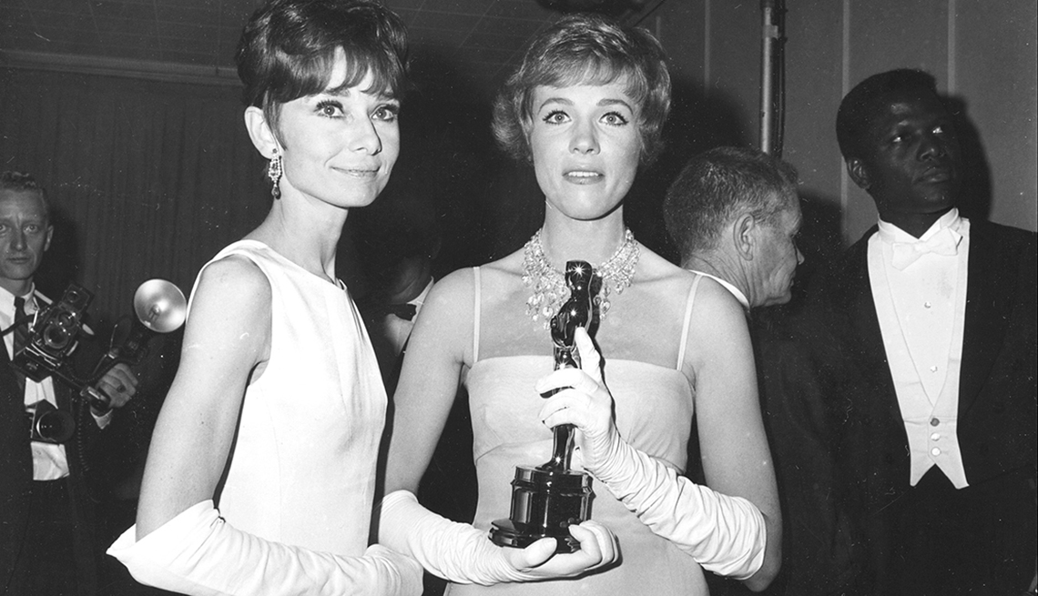 Audrey Hepburn, Julie Andrews, 37th annual Academy Awards