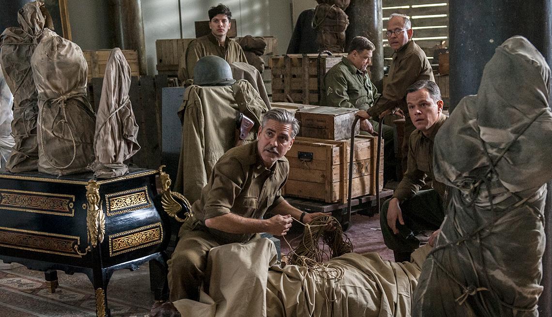 George Clooney, John Goodman, Matt Damon, Monuments Men, movie review