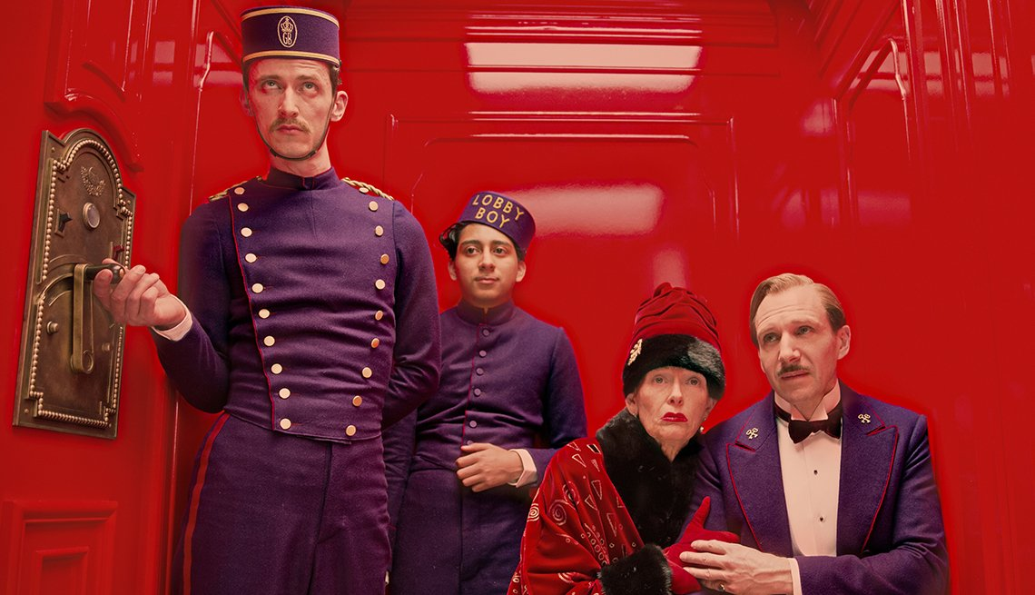 Ralph Fiennes, Tilda Swinton, Wes Anderson, The Grand Budapest Hotel