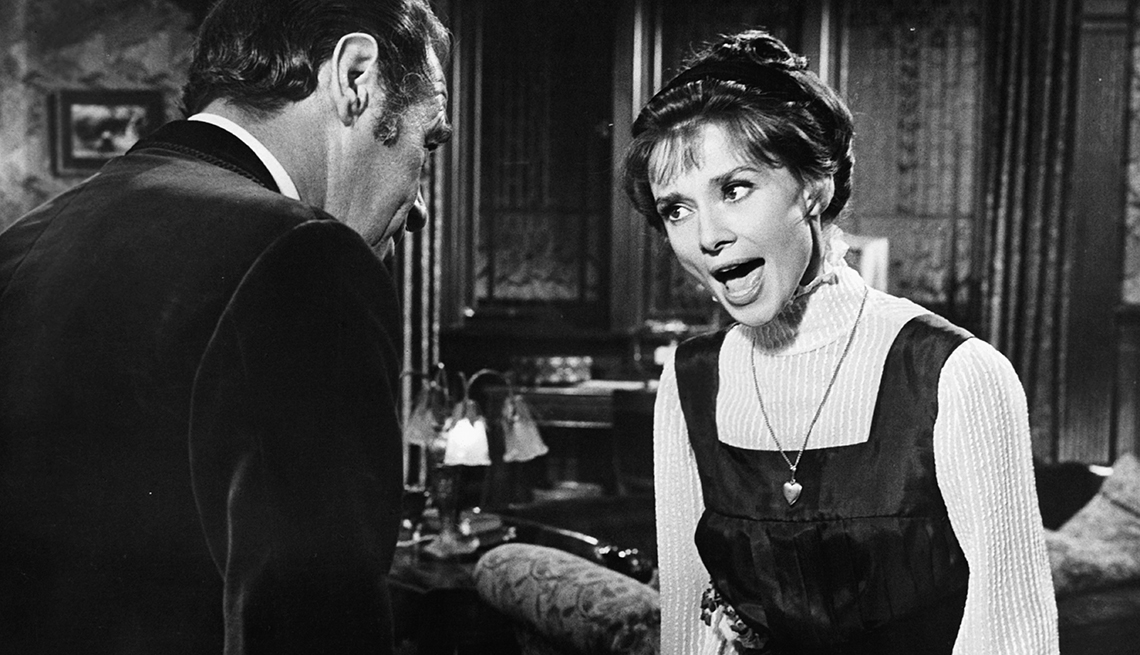 Rex Harrison, Audrey Hepburn, My Fair Lady, singing