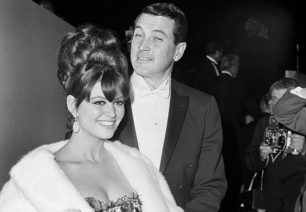 Rock Hudson and Claudia Cardinale at the Academy Awards in 1965