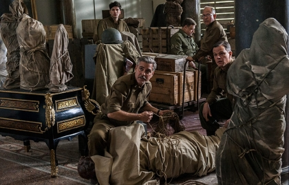 George Clooney, John Goodman and Matt Damon in The Monuments Men.