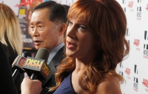 Kathy Griffin and George Takei at the Movies For Grownups Awards Gala.