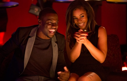 Kevin Hart and Regina Hall star in About Last Night.