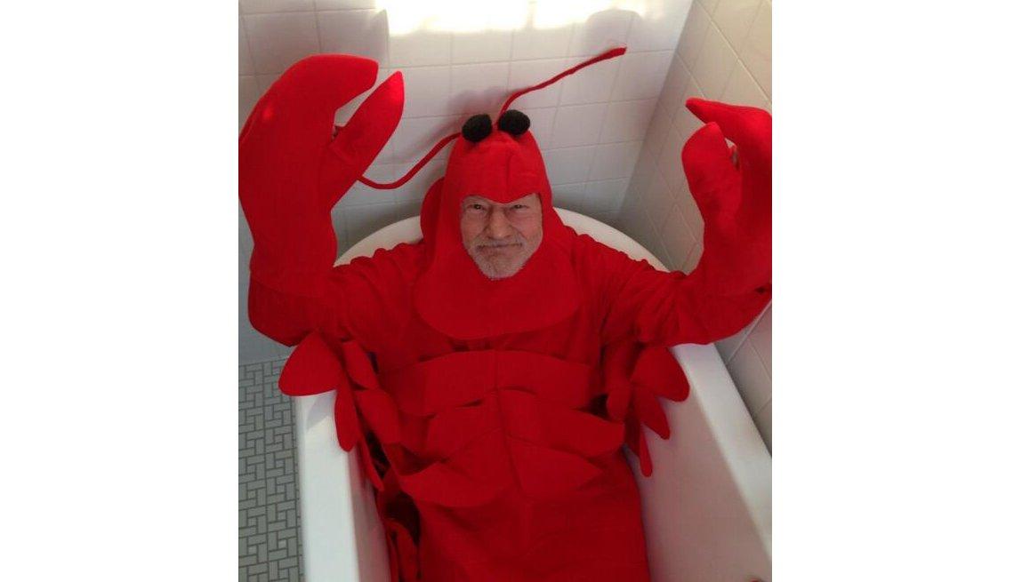 Patrick Stewart, Lobster Costume, Bathtub, Patrick Stewart Interview