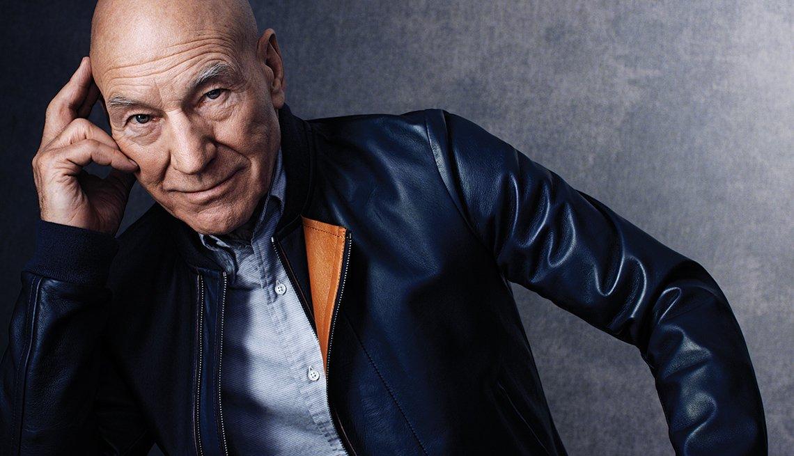 Portrait, Leather Jacket, Sir Patrick Stewart, Actor, Patrick Stewart Interview