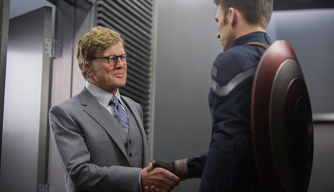 Robert Redford, Chris Evans, Marvel's Captain America, movie review