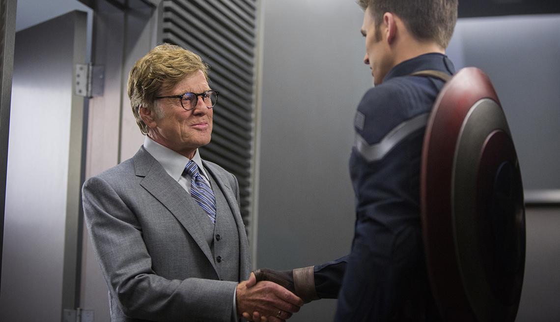 Robert Redford, Chris Evans, Marvel's Captain America, movie review