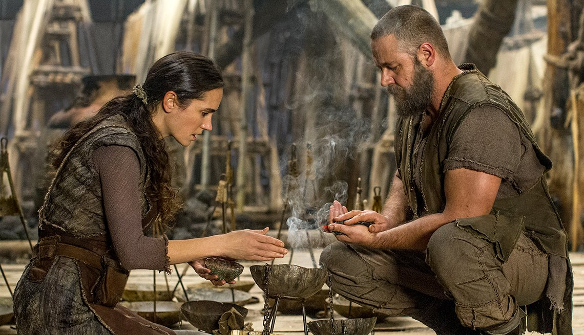 Jennifer Connelly, Russell Crowe, Noah, movie review