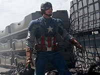Chris Evans en Captain America: The Winter Soldier.