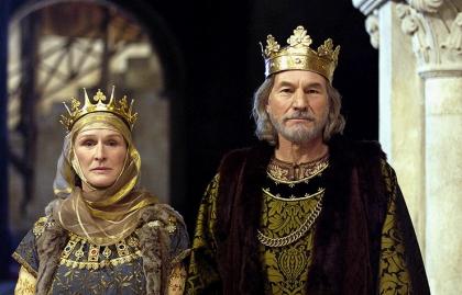 Sir Patrick Stewart y Glenn Close en la película The Lion in Winter.
