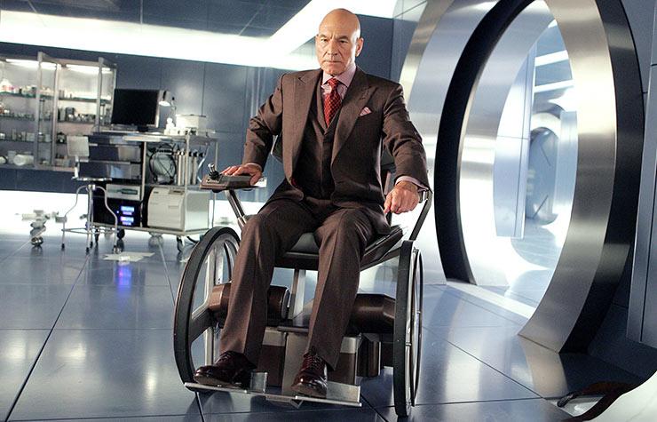 Sir Patrick Stewart in the movie, X-Men: The Last Stand.