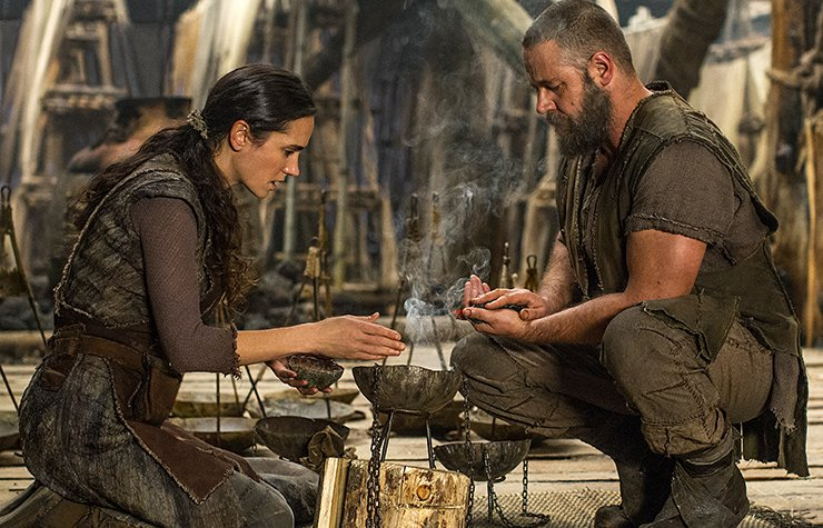 Jennifer Connelly and Russell Crowe in Noah.