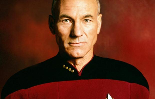 Sir Patrick Stewart en la película Star Trek The Next Generation
