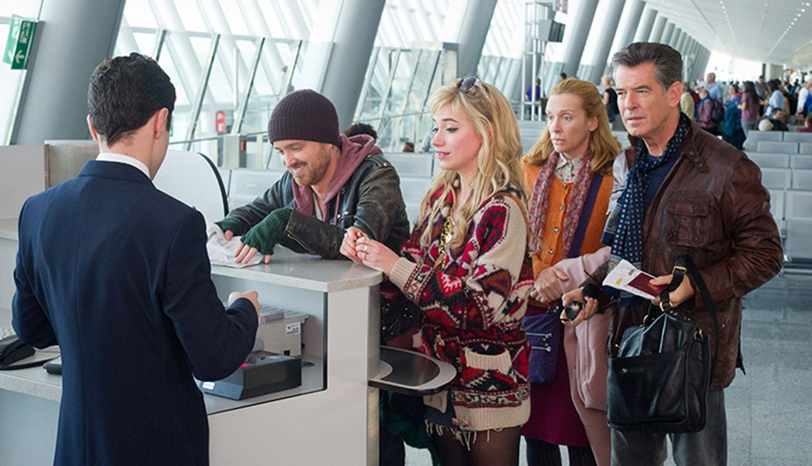 Aaron Paul, Imogen Poots, Toni Collette, Pierce Brosnan, A Long Way Down