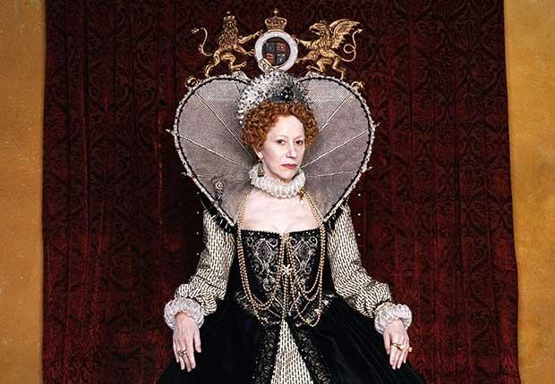 Actriz británica Mirren Helen en la mini serie de HBO Elizabeth I