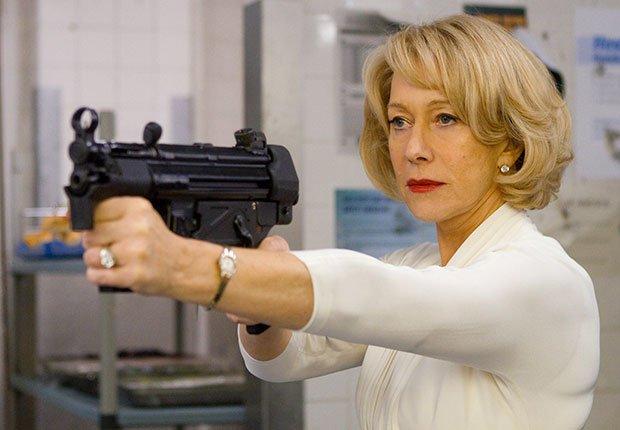 Actriz británica Mirren Helen en la película RED