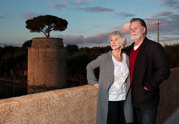 Actriz británica Mirren Helen y su esposo Taylor Hackford