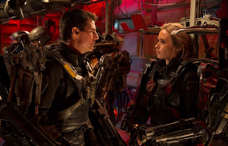 Tom Cruise and Emily Blunt star in The Edge of Tomorrow.