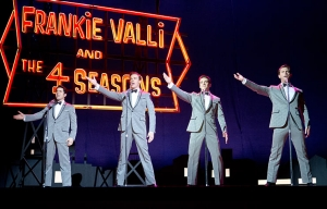 John Lloyd Young, Erich Bergen, Vincent Piazza and Michael Lomenda star in Jersey Boys.