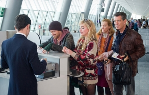 Aaron Paul, Imogen Poots, Toni Collette and Pierce Brosnan star in A Long Way Down.